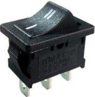 Tlačítko kolébkové ON-(ON) 1pol.250V/3A černé