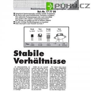 Brožura v němčině - informace o stabiliz. napětí