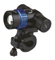 Svítilna nabíjecí multifunkční LED cyklo, 600lm, CREE XML T6, Li-Ion, černomodrá SOLIGHT WN15
