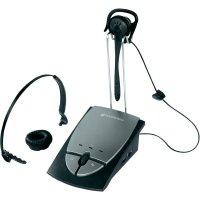 Telefonní headset Plantronics S12, zásuvka RJ10, černá, stříbrná