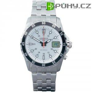 Ručičkové náramkové DCF hodinky Eurochron EFAUS 100 Serie, pásek z nerezové oceli, solární