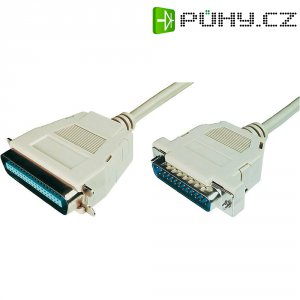 Paralelní kabel, D-SUB vidlice 25 pol. ⇔ Centronics vidlice, 1,8 m