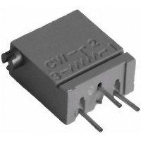 Cermetový trimr TT Electro, 2094110201, 50 Ω, 0,5 W, ± 10 %