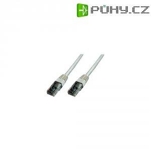 Patch kabel CAT 5e SF/UTP RJ 45, vidlice ⇔ vidlice, 0,25 m, bílý