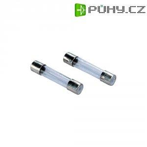 Jemná pojistka ESKA pomalá 632306, 250 V, 0,08 A, skleněná trubice, 6,3 mm x 32 mm, 10 ks