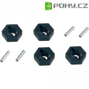 Unašeč kola 12 mm 6-hraný Reely V21071, 1:10, 5 mm, 4 ks