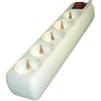 Zásuvková lišta s přepěťovou ochranou Gembird, SPG4-C-6, 5 zásuvek, bílá