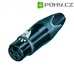 XLR kabelová zásuvka Neutrik NC 3 FXX-BAG, rovná, 3pól., 3,5 - 8 mm, černá