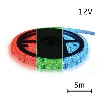 LED pásek 12V 5050 60LED/m IP44 max. 14.4W/m RGB (1ks=cívka 5m) zalitý