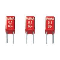 Fóliový kondenzátor MKS Wima MKS02, 2,5 mm, 0,47 µF, 63 V, 10 %, 4,6 x 4,6 x 9 mm