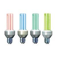 Úsporná žárovka trubková Megaman Economy Color E27, 11W, modrá
