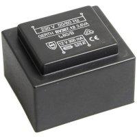 Transformátor do DPS Gerth EI 38/13,6, prim: 230 V, Sek: 2x 30 V, 60 mA, 3,6 VA