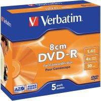 Verbatim DVD-R 1,4GB 8CM 4X 5 ks HARDCO