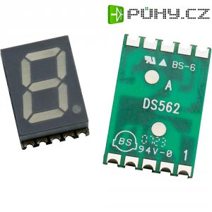 SMD sedmisegmentovka Avago Technologies HDSM-533F, 20 mcd, 14,22 mm, žlutá