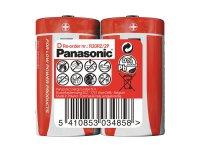 Baterie R20 (D) Red zinkouhlíková, PANASONIC 2S
