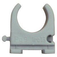 Držák pro PVC trubky EN 25, šedá