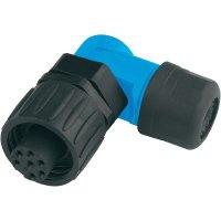 Kabelová zásuvka 6+PE Amphenol C016 10F006 000 10, úhlová, 10 A, černá/modrá