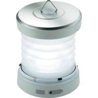 Úsporná akumulátorová svítilna Ampercell Sonia, nabíjení dynamem, stříbrná