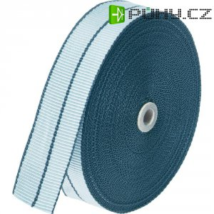 Tkaná montážní páska, 14x1 mm, 10 m, bílá/šedá