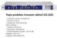 Aktivní výhybka - crossover Show SCX-202S, DOPRODEJ