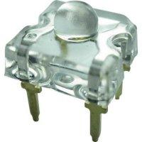 LED dioda hranatá s vývody Yoldal, YSF-R319HY, 50 mA, 7,6 mm, 2,4 V, 50 °, červená