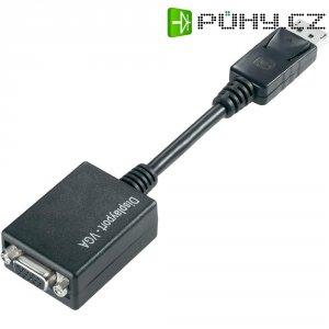Kabel s adaptérem VGA, 15 cm, černý