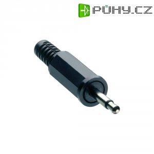 Jack konektor 2,5 mm Lumberg KLS 10, zástrčka rovná, 2pól./mono, černá