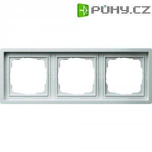 Rámeček plochého spínače 3dílný Gira, standard 55, čistá bílá (0213112)