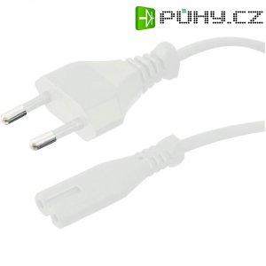 Euro síťový kabel Hawa, 100827, zástrčka euro ⇔ zásuvka C7, 1,8 m, bílá