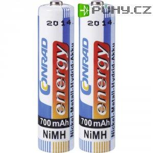 Akumulátor Conrad energy, NiMH , AAA, 700 mAh, 2ks