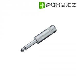 Jack konektor 6,35 mm BKL Electronic 1107008, zástrčka rovná, 2pól./mono, stříbrná