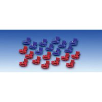 Kabelová rychlospojka, 0,5 - 0,75 mm², 2pólová, modrá, 20 kusů