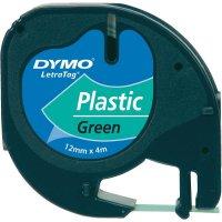 Páska do štítkovače DYMO 91224 (S0721690), 12 mm, LT LetraTAG, 4 m, černá/zelená