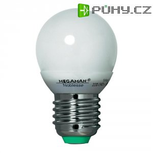 Úsporná žárovka kulatá Megaman Noblesse Ping Pong E27, 5 W, teplá bílá
