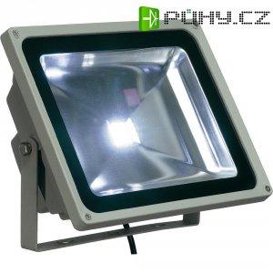 Venkovní LED reflektor SLV 231121 bílá, 50 W, stříbrná/šedá