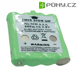 Akumulátor pro radiostanice Topcom, nahrazuje TT9100, 4,8 V, 600 mAh