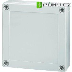 Polykarbonátové pouzdro MNX Fibox, (d x š x v) 130 x 130 x 35 mm, šedá (MNX PC 125/35 LG)