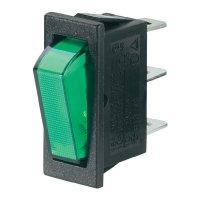 Kolébkový spínač SCI R13-70B-01 s aretací 250 V/AC, 10 A, 1x vyp/zap, černá, červená, 1 ks