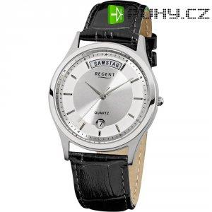 Ručičkové náramkové hodinky Regent F-354 Quartz, pánské, kožený pásek