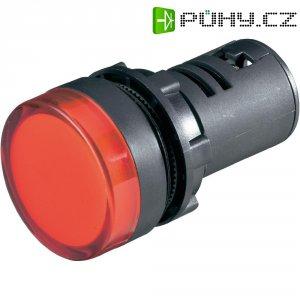 LED kontrolka 22X64 mm modrá 230 Vs akustickou signalizací
