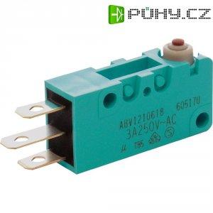 Mikrospínač Panasonic, ABV1210618J, 250 V/AC, 30 V/DC, 3 A