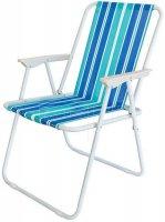 Kempingová židle skládací - rybářské křesílko modré