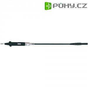 Měřicí silikonový kabel banánek 4 mm ⇔ měřící hrot MultiContact XSPP-419/SIL, 2 m, černá