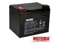Baterie olověná 12V 33Ah MOTOMA bezúdržbový akumulátor