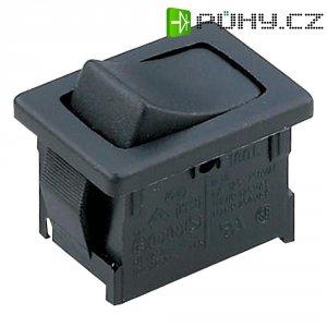 Kolébkový spínač Marquardt 1808.0102, 1x zap/vyp/zap, 250 V/AC, 6 A, černá