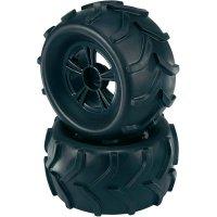 Monstertruck kolo Reely Traktor, 5 paprsků, 17 mm 6-hran, 1:8, černá, 2 ks