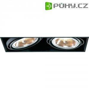Vestavné svítidlo Sygonix Bari AR111, 2x 100 W, G53, černá