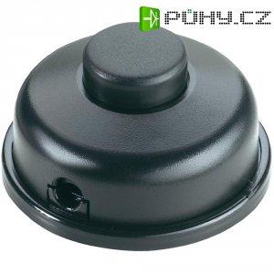 Nášlapný vypínač interBär, 1pólový, 250 V/AC, 6 A, černá