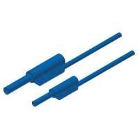 Měřicí kabel banánek 4 mm ⇔ banánek 2 mm SKS Hirschmann MAL S WS 2-4 100/1, 1 m, modrá