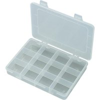 Box na součástky E-110, 184 x 124 x 25 mm, transparentní (difuzní)